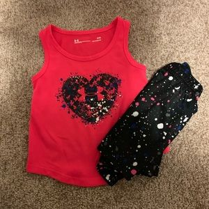 Baby girls under Armour tank and short set